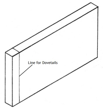making a dovetail joint picture 1